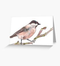 Winter tit Greeting Card