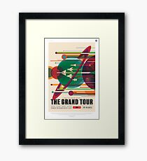 The Grand Planet Tour, Space Travel Poster Framed Print