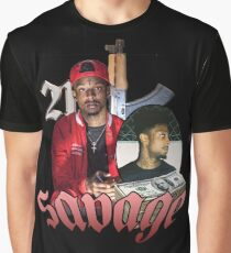 VINTAGE 21 SAVAGE TOUR TEE CINCO FLARE Graphic T-Shirt