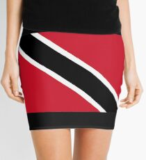 Trinidad and Tobago National Flag T-Shirt Stickers Mini Skirt
