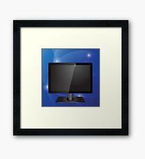 tv screen Framed Print