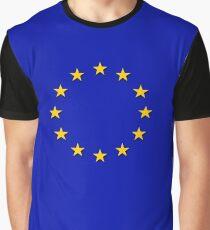 Europe - I Love The European Union ~ EU Flag T-Shirt Drapeau Design Graphic T-Shirt