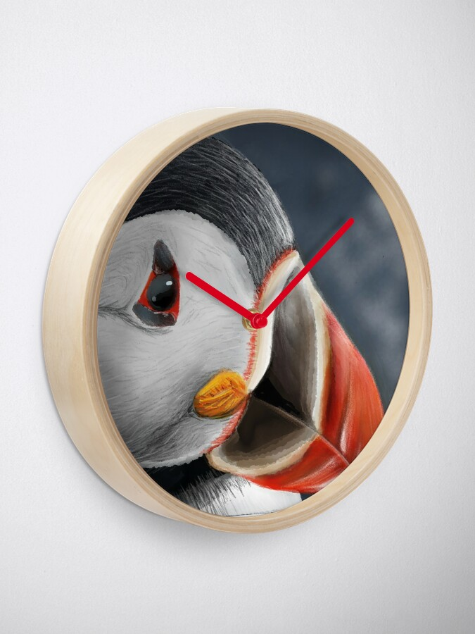 Alternate view of Puffin Clock
