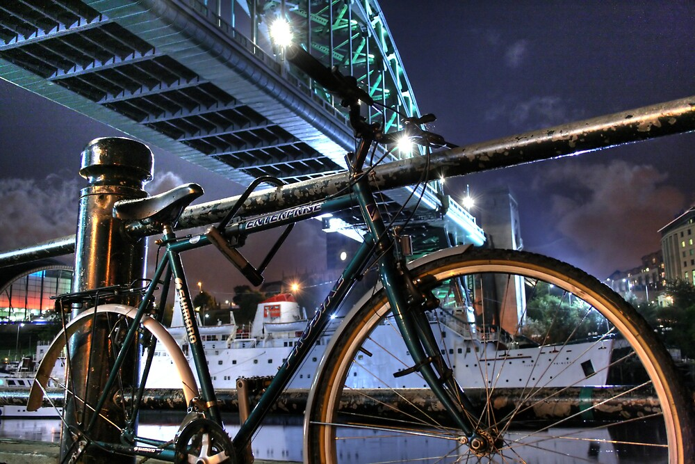 Bike And Bridge by Richard Shepherd