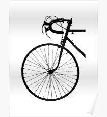 Crescent Bike Black Poster