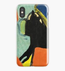 Black Dog and Green Ball iPhone Case/Skin
