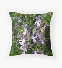 Rosmary Flowers Throw Pillow