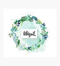 Personalised Abigail Photographic Print