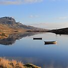The Storr reflecting in Loch Fada by Maria Gaellman