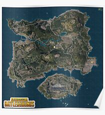 PLAYERUNKNOWN'S BATTLEGROUNDS Large Map HD Poster