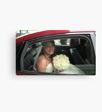 Waiting for the groom Canvas Print
