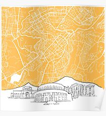 Yerevan Armenia Background Map Poster
