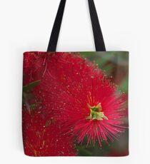 Red Callistemon Tote Bag