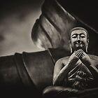 Black and white Buddha  by benbdprod