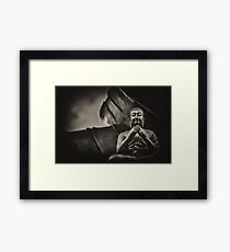 Black and white Buddha  Framed Print