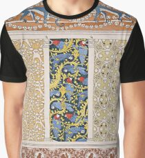 Monkeys and Parrots Vintage Wall Paper Design Graphic T-Shirt