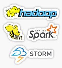 Apache Hadoop, Funken, Bienenstock, Sturm, Big Data Logo Aufkleber Sticker