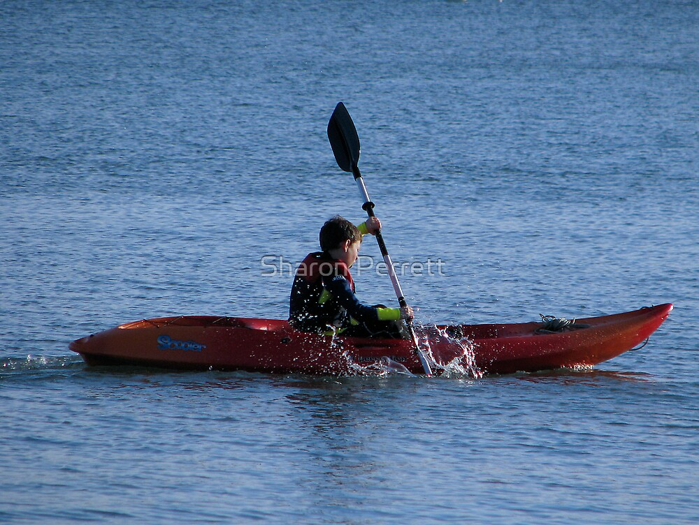 Kayak fun by Sharon Perrett