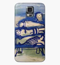 Blue stacked Case/Skin for Samsung Galaxy