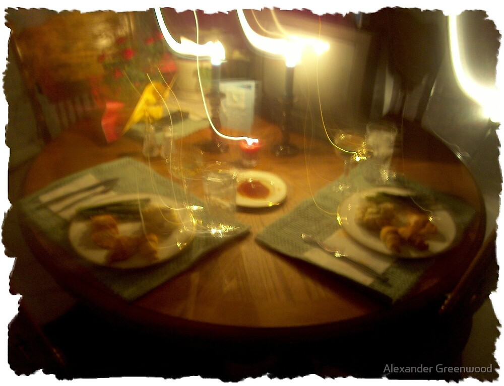 Dinner is Served...with Too Much Wine by Alexander Greenwood