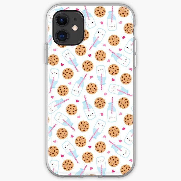 Cute Milk and Cookies Pattern iPhone Soft Case