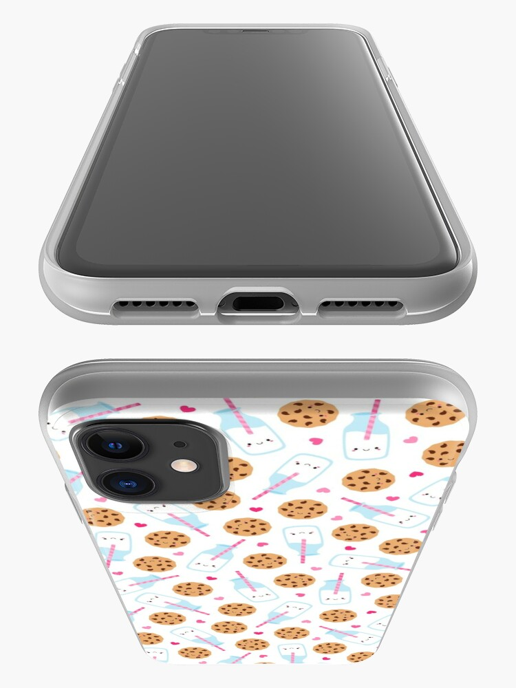 Alternate view of Cute Milk and Cookies Pattern iPhone Case & Cover