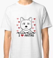 I Love Akitas Classic T-Shirt