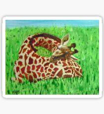Serenity … a2 Sleeping Baby Giraffe  Sticker