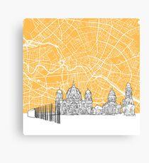 Berlin Germany Skyline Map Canvas Print