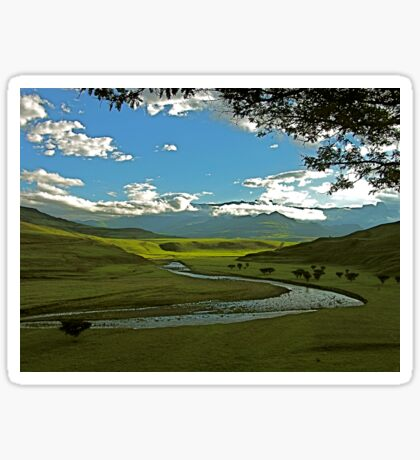 Drakensberg landscape in the late afternoon Sticker