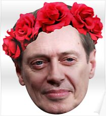 Buscemi Flower Crown Poster