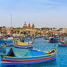 Marsaxlokk, Malta by Mark Baldwyn