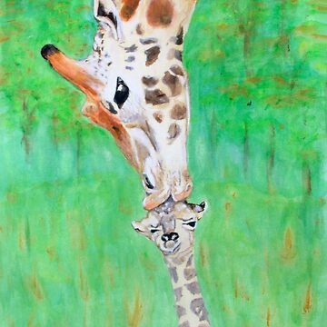 Giraffe Mothers First Kiss … a11 by whiteygilroy