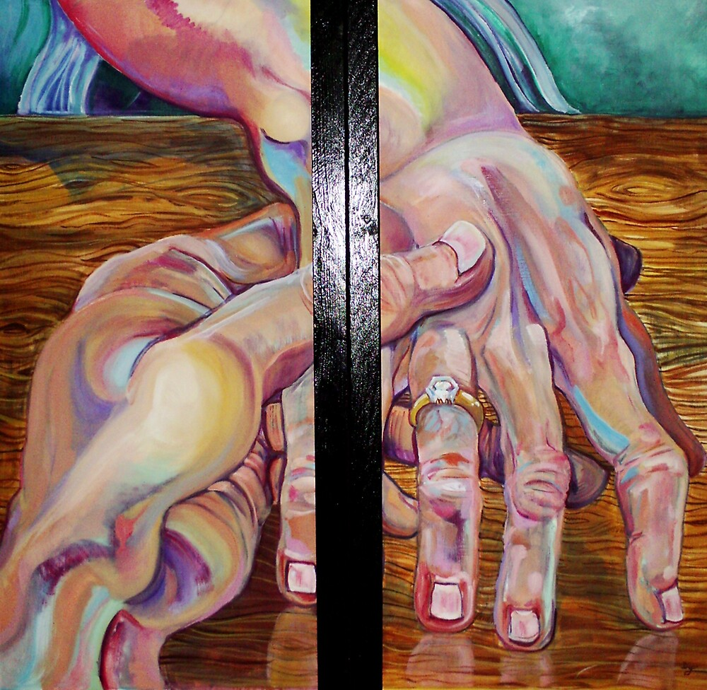 Affinity Diptych (Oils)- by Robert Dye