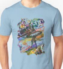 SURF'S UP COLOURFUL SURFER SILHOUETTE Unisex T-Shirt