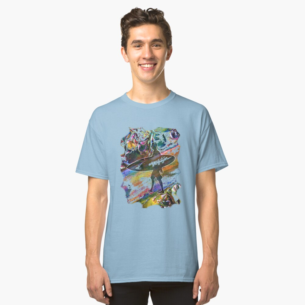SURF'S UP COLOURFUL SURFER SILHOUETTE Classic T-Shirt