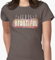 Beautiful Watercolor  Womens Fitted T-Shirt