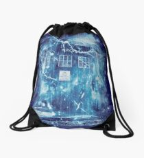 Time and space storm Drawstring Bag