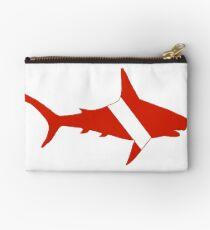 Shark Scuba Diver Silhouette Studio Pouch