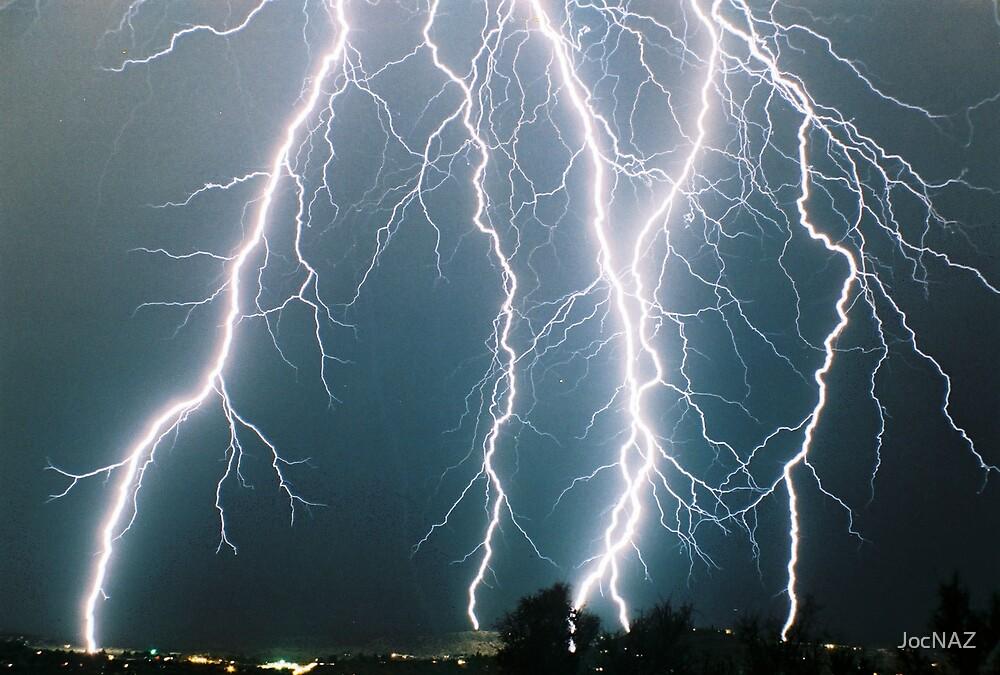 Lightning from Clifton, CO  I by JocNAZ