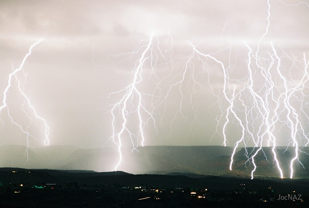 Lightning from Clifton, CO  II by JocNAZ