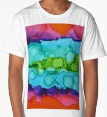 Alcohol Ink Pattern Long T-Shirt