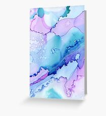 Abstract Ink - blue/purple Greeting Card
