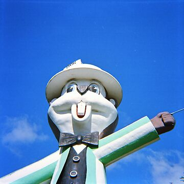 Giant Gopher Statue - Diana F+ 120mm Photograph by ztrnorge