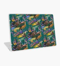 SURF'S UP COLOURFUL SURFER SILHOUETTE Laptop Skin