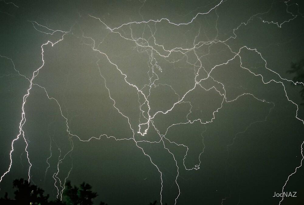 Lightning Dancing over Cottonwood, AZ by JocNAZ