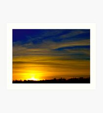 January Sunset Art Print