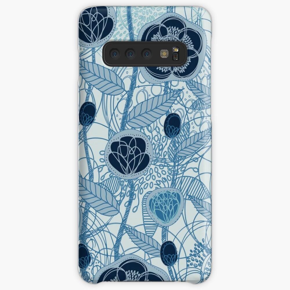 Magic Flowers - blu jeans Case & Skin for Samsung Galaxy