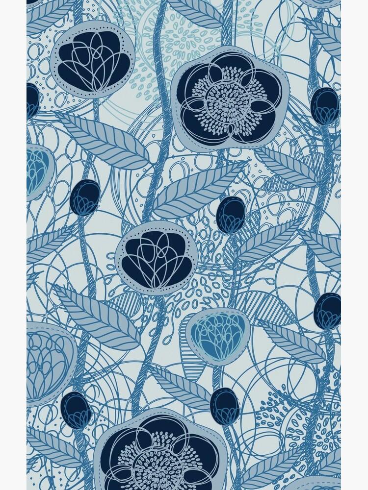 Magic Flowers - blu jeans by SerenaBellini