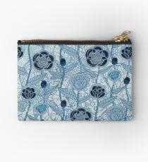 Magic Flowers - blu jeans Zipper Pouch